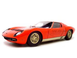 Lamborghini Miura SV Red 1 18 Autoart Diecast Model Car
