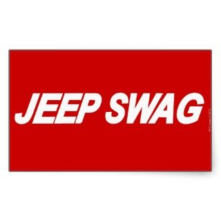 Jeep Swag Rectangular Sticker