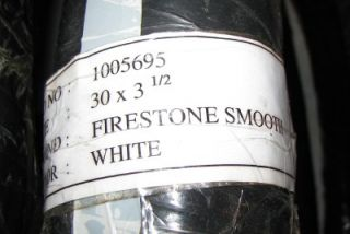 All White Smooth Firestone Tire Set of 4 Two 30x3 Two 30x3 1 2 Model T