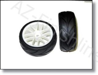 White Rims and Tires Redcat Racing Part 02020W for Lightning EPX Pro
