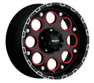 18 inch Ballistic Enigma Black Wheels Rims 5x150 12
