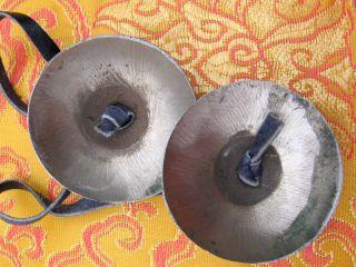 New 8 Auspicious Lucky Symbols Brass Tibetan Buddhist Tingsha Bells