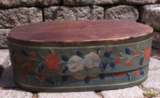 Antique 19th C Large Scandinavian /German Brides Box with Outstanding
