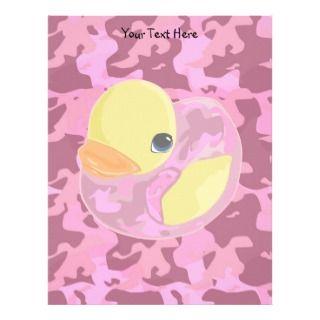 Pink Camo Ducky Custom Letterhead