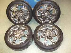 18 Lexani 5 Lug Black Chrome Wheels Rims LKQ