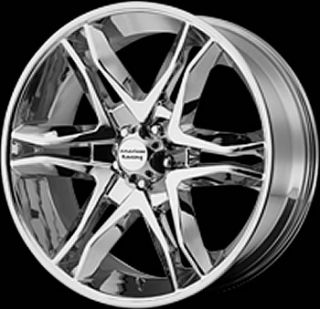 17x8 Chrome American Racing Mainline Wheels 5x4 5 25 Toyota Highlander