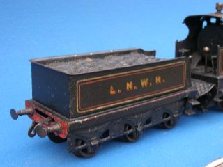 100% ORIGINAL VERY SCARCE GERMAN BING LIVE STEAM LOCOMOTIVE & TENDER