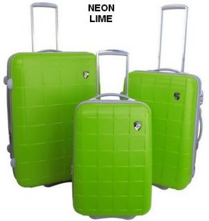 Heys Cubis Expandable TSA Luggage Set Neon Lime Green