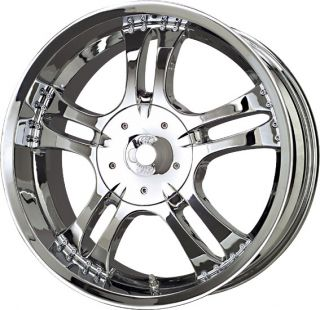 18 Inch 6x4.5 6x114.3 Chrome Vapor Wheel 18x8.5 +18 6 Lug Dodge
