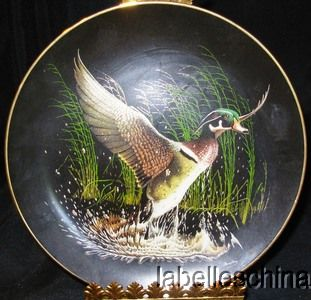This beautiful WS George China Collector Plate is WINGED SPLENDOR