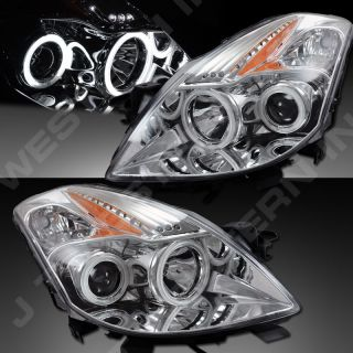 08 09 Nissan Altima 2dr Coupe Dual CCFL Halo Projector Headlights LED