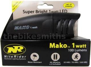 NiteRider Mako 1 Watt 5042 LED Bike Head Light Front Bicycle Handlebar