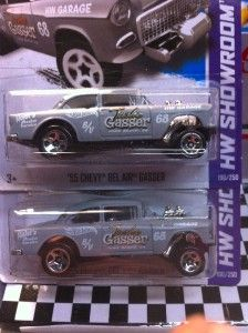 2013 Hot Wheels 55 Chevy Bel Air Gasser Lot of 2 New Release