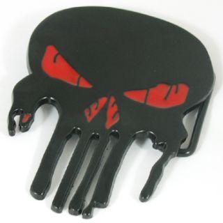 Western Fashion Evil Skull Skeleton Bone Metall Buckle Leather Belt