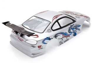 RC Car 1 10 Nissan Silvia Drift Dragon Body Shell with LED Light