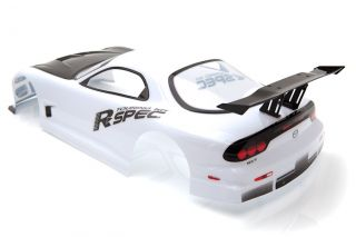 Radio Control Car 1 10 Mazda RX7 Spec R Body Shell 190mm White S016