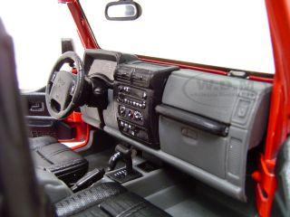 Jeep Wrangler Rubicon Red 1 18 Scale Diecast Model