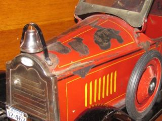 American National Packard Fire Chief Car 1926 Pressed Steel Pull Toy