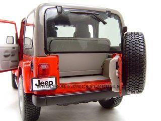 Jeep Wrangler Sahara Red 1 18 Diecast Model Car by Bburago 12014