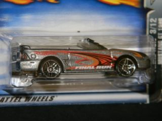 2003 Hot Wheels Final Run 3 of 12 1996 Mustang GT 197 Silver MOC