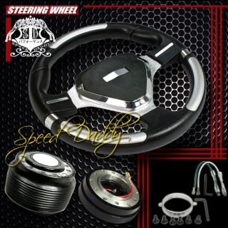 32cm Steering Wheel Hub Quick Release Civic Del Sol Integra Shield