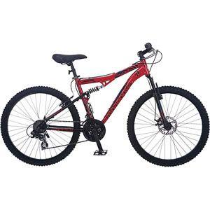 Mongoose 26 inch Dual Full Suspension MTB MT Mountain Bike Bicycle