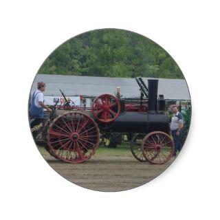 Old Steam Engine Tractor Sticker