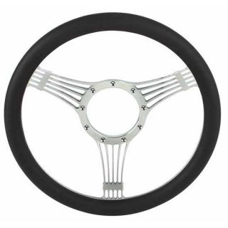 New Chrome Plated Billet Banjo Style Steering Wheel