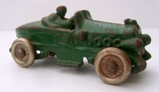 Cast Iron Race Car Racer Hubley or Arcade Original Wheels