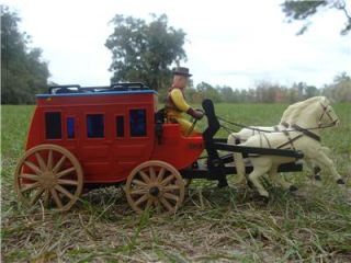 Vintage Western Old West Stagecoach Horses Battery Operated Toy