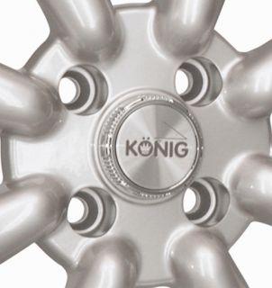 Konig Rewind 15x7 4x100 ET20 Silver Wheels Fit Miata Scion XA XB Kia