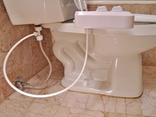 Bidet Toilet Attachment Ambient Water Dual Nozzle Non Electric BI1100