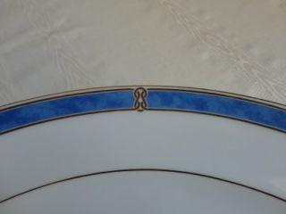 Christofle Silver Oceana Byzance Bleu China Set Blue Marble Gold