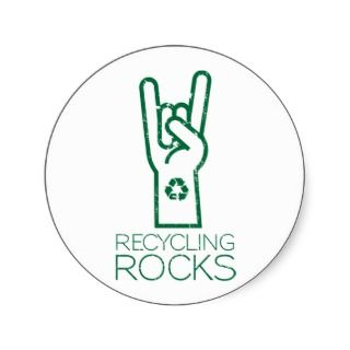 Earth Day: Recycling Rocks! Sticker