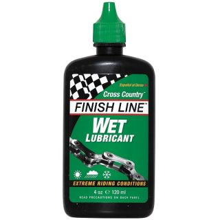 Finish Line Cross Country Wet Lube 4oz for Bicycle Cycling Chain Oil