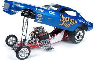 18 Autoworld 1971 Blue Jungle Jim NHRA Chevrolet Funny Car AW1112