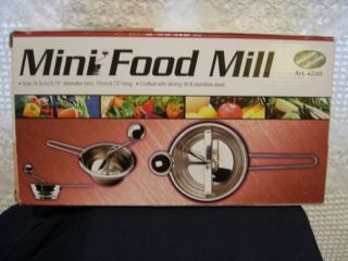 Food Mill or Moulinette or Potato ricer Brand New 18 8 Stainless Steel