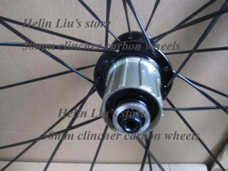 50mm clincher carbon wheels with light weight hub A291SB/F482SB + SED