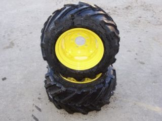 New Rear Bar Tires Rims Heavy Duty R1 23x10 50 12 Garden Tractor John