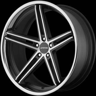 22x11 Machined Black Wheel Lorenzo WL197 5x120