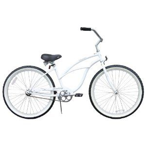 New 24 Beach Cruiser Bicycle Bike for Lady White