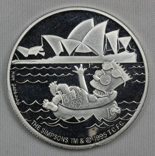 1995 The Simpsons™ 1 oz 999 Silver Limited Edition Collectors Coin