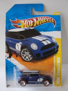 Hot Wheels 2011 Mini Challenge Blue Body w Redlines Wal Mart