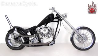 Old School S&S Panhead Chopper built by Demons Cycle on these chassis
