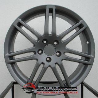 18 RS4 Wheels Rims Matte Gunmetal Fit VW Passat B5 B5 5
