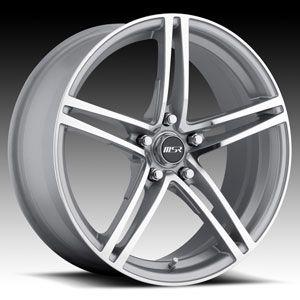 18 x7 5 MSR 048 0483 s F Silver Wheels Rims 4 5 Lug