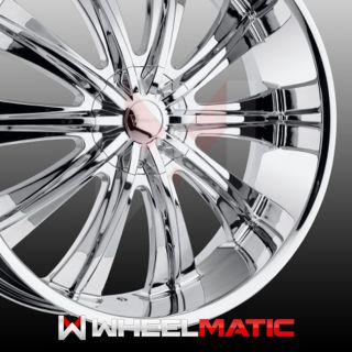 Set of 4 New 24 Versante 220 5x115 127 15 Wheels Rims Chrome