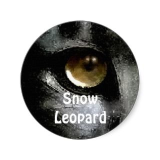 Snow Leopard Endangered Species Stickers