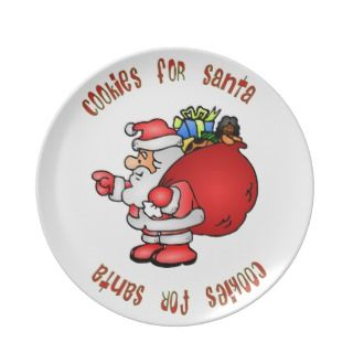 Cookies for Santa Christmas Plate
