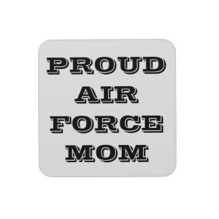 Coaster Set Proud Air Force Mom